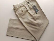 Linen Flat Front Trousers for Men