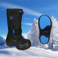 Kids Stomp Outdoor Waterproof Faux Fur Lined Snow Boots Wellies Size JNR 11 Blue