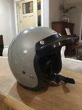 Vintage BELL MAGNUM II 2 1979 silver Motorcycle Helmet 70s 1979 Size 7 1/8 57 CM