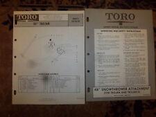 "TORO 50"" TROJAN~WHIRLWIND MOWER~PART Manual~TORO 48"" SNOWTHROWER OWNER MANUAL"