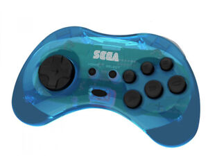Retro-bit x SEGA Saturn Clear Blue 8 Button Arcade Pad Wireless - RET00164 F43
