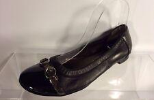 Attilio Giusti Leombruni Womens Black Leather Flats 36