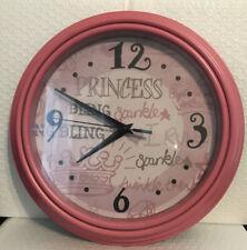 Princess Girls Wall Clock 10 Inch