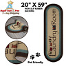 """Laundry Room Runner Rug Carpet Rubber Backing Non Slip Area Floor Rug 20"""" x 59"""""""