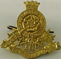 WWII XVII Duke of York's Royal Canadian Hussars Cap Badge
