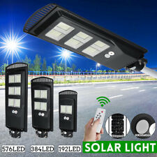 250W 576 LED Wall Street Light Solar Panel Outdoor Garden Lamp+Remote Control