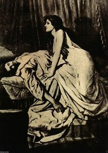 Burne Jones Le Vampire 1897 Gothic Print Poster Wall Art Picture A4 +
