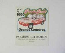 VECCHIO ADESIVO AUTO anni '80 / Old Sticker FIAT PANDA ROSA Novara (cm 10 x 11)