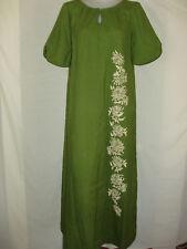 VTG 50/60s HAWAIIAN DRESS REEF MUU MUU PAINTED FLORAL