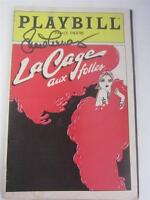 Orig Playbill Broadway La Cage aux folles Hearn, Barry Signed Lucie COA Lucille