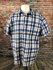 AMERICAN EAGLE OUTFITTERS MEN'S PLAID COTTON SHORT SLEEVE SHIRT SIZE XXL  A67-28