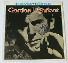 "GORDON LIGHTFOOT Signed Autograph ""The Very Best Of.."" Album Vinyl Record LP"