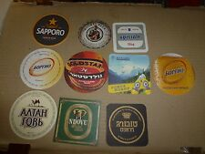 $.xx10 world OVERSEAS Beer coasters MIX+100 random selected coasters FREE! NR839