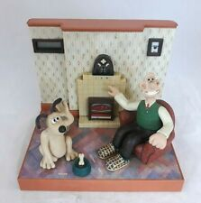 Wallace and Gromit Wesco Talking Alarm Clock Radio 1996 Tested Working 3xC - W9