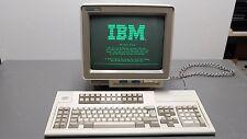 "IBM Infowindow II 3486 12.5"" CRT Monochrome terminal display and keyboard 1996"
