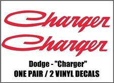 "Dodge CHARGER 1 PAIR Graphic Vinyl Decals Script Style Quarter Window 1"" X 4.75"""