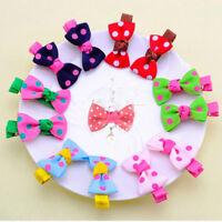 10Pcs Colorful Baby Girls Hair Pin Ribbon Bowknot Hair Clips Hair Accessories