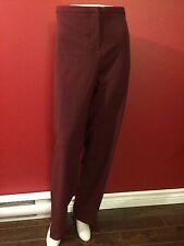 LANE BRYANT Women's Burgundy Dress Pants- Size 24 Regular - NWT