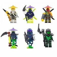 6 X Phantom Ninja Minifigures Toys Ninjago Morrd Sensei Wu ACHER Blocks Z092