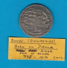 More details for buyids a.d. 998 to 1012 silver coin in a well used condition