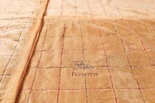 VINTAGE BURBERRY EMBROIDERED BLANKET / THROW SQUARE PRINT EMBROIDERY