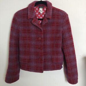 *DFSS* SONIA by SONIA RYKIEL Medium Lambswool Plaid Jacket Designer