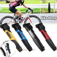 Bicycle Air Pump MTB Road Bike Cycling Pump Schrader Presta W/ 3 Valve Nozzles