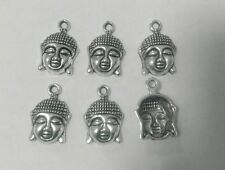 6 x Tibetan Silver Lady Thai  Buddha Charms (22 x 15mm) for Necklace & Bracelet