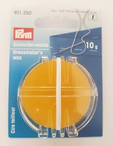 Prym 10g Dressmakers Wax Stronger Thread Anti-tangle Makes A Zip Smooth