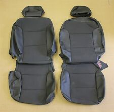 15-16 GMC Sierra  Leather Cloth OEM Seat Covers Take Off 4 Door Crew Cab