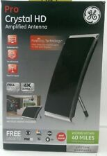 GE Pro Crystal HD Amplified Antenna (40 Miles Of Broadcast Source)