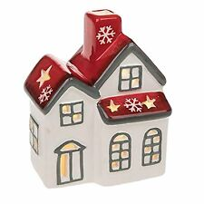 Festive Ceramic LED Light Up Christmas House - LP68206
