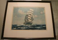 Vintage Jack Spurling (1879-1933) Print of the Clipper Ship Sophocles 1926