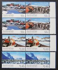 2004 AAT Decimal Stamps - Mawson Station 1954-2004 - Set of 4x2 - Tabs MNH