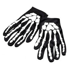 Halloween Skeleton Bone Fancy Dress Black Gloves