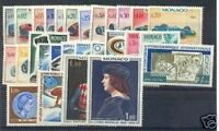 MONACO STAMP ANNEE COMPLETE 1967 : 28 TIMBRES NEUFS xx TTB