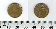 New Zealand 1982 - 1 Cent Bronze Coin - Queen Elizabeth II - Silver fern leaf