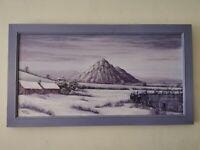 Oil on Canvas, Signed Graham Clarke , Winter Scene, Framed, Painting,