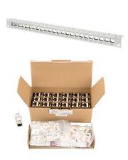 """DIGITUS® CAT6a 500Mhz 10GB Keystone-Set 24x Keystones + 1x 24Port Leerpanel 19"""""""