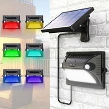 LED Garden Wall Lights Solar Powered PIR Motion Sensor Outdoor Flood Lamp