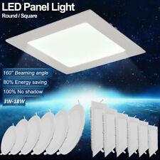 3W 6W 9W 12W 15W 18W LED Recessed Ceiling Panel Down Lights Slim Lamp Fixture