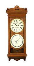 Seth Thomas Double Dial Perpetual Office Calendar Regulator No. 13 Wall Clock