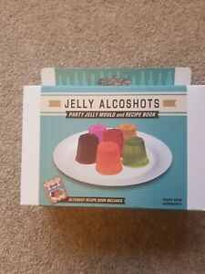 Jelly Alcoshots Mould and Recipe book  unopened.