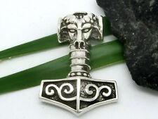 Thor martillo colgante de plata ley 925 con cabeza Carnero Mjöllnir Adorno CELTA