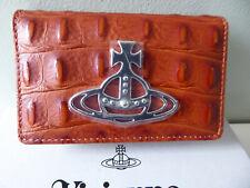 Brand New Vivienne Westwood Johanna Croc Flap Card Holder / Wallet