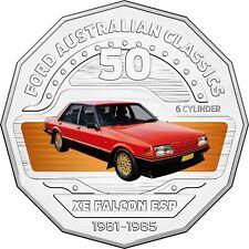 2017 Australia 50c Coloured Unc Coin RAM - 1982 XE Falcon ESP Classic Ford Car