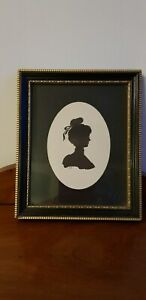 Antique 19th c. Silhouette - Initialled - Possibly German