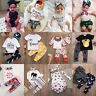 3pcs Toddler Newborn Baby Boys Girl T-shirt Tops+Pants Outfits Set Clothes lot