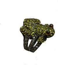 """Heidi Daus Crystal """"Pave Frog"""" Ring size8"""