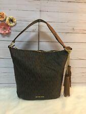 MICHAEL Michael Kors Hobo Convertible Handbag Elana Large Bag Signature Brown